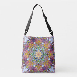 Symmetrical Colors Abstract Crossbody Bag