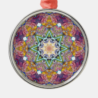 Symmetrical Colors Abstract Metal Ornament