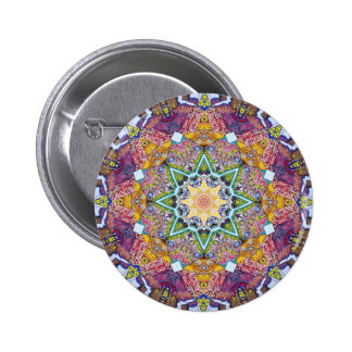 Symmetrical Colors Abstract Pinback Button