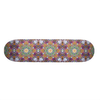 Symmetrical Colors Abstract Skateboard