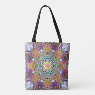 Symmetrical Colors Abstract Tote Bag