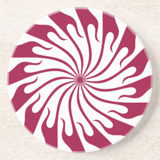 Symmetrical Design Sandstone Coaster