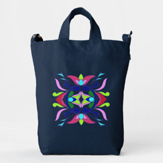 Symmetrical Flower Duck Bag