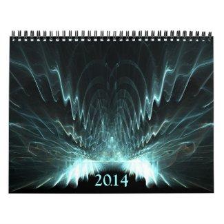 Symmetrical fractals 2014 calendars