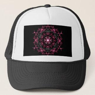 Symmetrical Ruby Kaleidoscope Trucker Hat