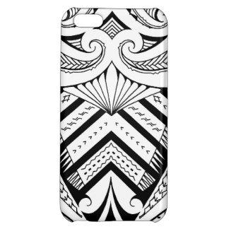 Symmetrical Samoan tattoo design with Maori koru iPhone 5C Case