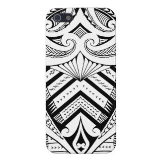 Symmetrical Samoan tattoo design with Maori koru iPhone 5 Covers