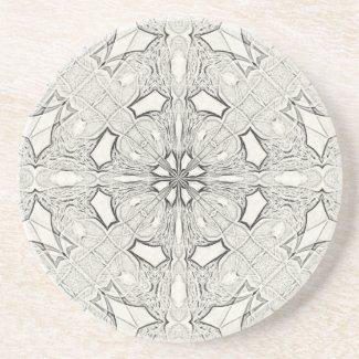Symmetrical Sketching Sandstone Coasters coaster