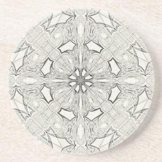 Symmetrical Sketching Sandstone Coasters