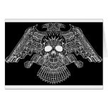 Symmetrical Skull with Guns and bullets by Al Rio Greeting Cards