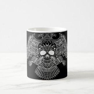 Symmetrical Skull with Guns and bullets by Al Rio Classic White Coffee Mug