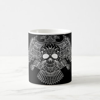 Symmetrical Skull with Guns and bullets by Al Rio Coffee Mug