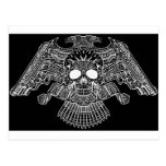 Symmetrical Skull with Guns and bullets by Al Rio Postcards