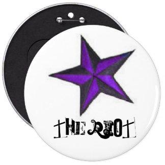 symmetrical star, The Riot Pinback Button