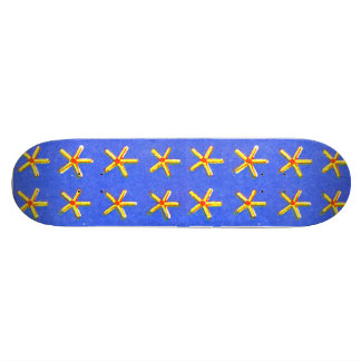 Symmetrical Stars Art Skateboard