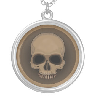 Symmetricus skull necklace. silver plated necklace
