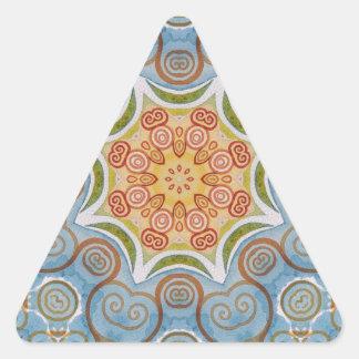 Symmetry design triangle sticker