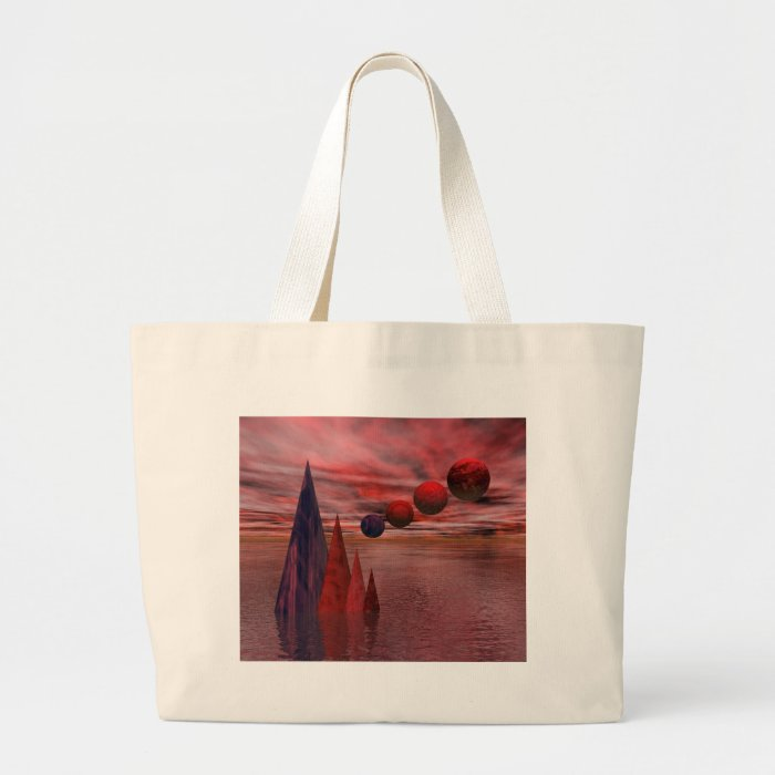 Symmetry In Red Large Tote Bag