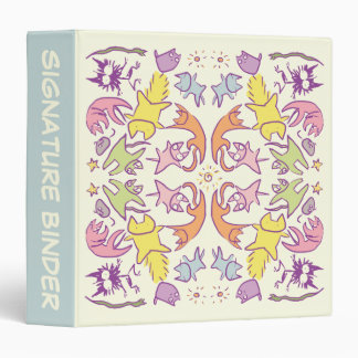 Symmetry Pastelcolor Cute Cats 3 Ring Binder