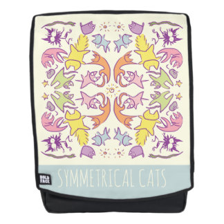 Symmetry Pastelcolor Cute Cats Backpack