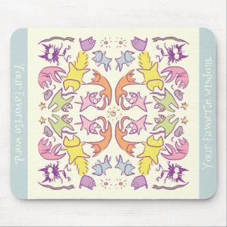 Symmetry Pastelcolor Cute Cats Mouse Pad