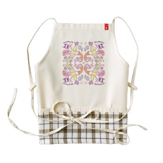 Symmetry Pastelcolor Cute Cats Zazzle HEART Apron