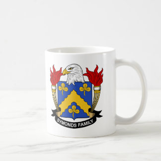 Symonds Family Crest Classic White Coffee Mug