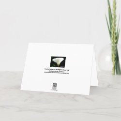 Sympathies - Calla Lily Card