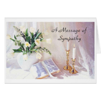 Sympathy- A Message of Sympathy Card