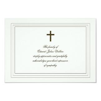 Sympathy Acknowledgement Card
