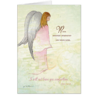 Sympathy Angel, Christian Religious, Scripture Greeting Card