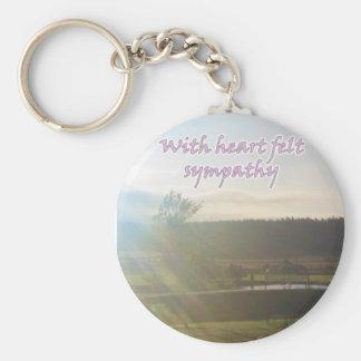 sympathy basic round button keychain