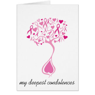 Sympathy/Bereavement Card for Breast Cancer