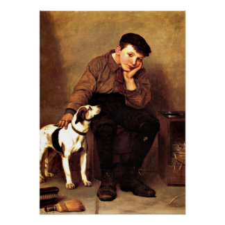 Sympathy - Boy and His Dog Poster