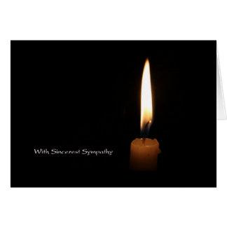 Sympathy Candle Greeting Card