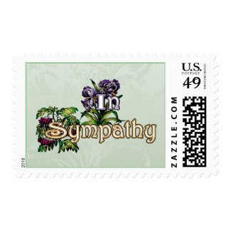 Sympathy card, antique style stamps
