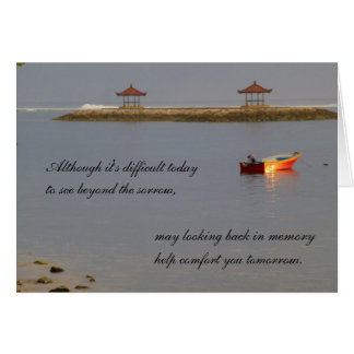 Sympathy card - boat on the water card