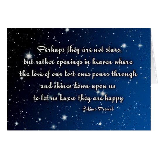 Sympathy Card Eskimo Proverb Stars Zazzle Com