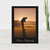 Sympathy Card for a Man who Loved Golf