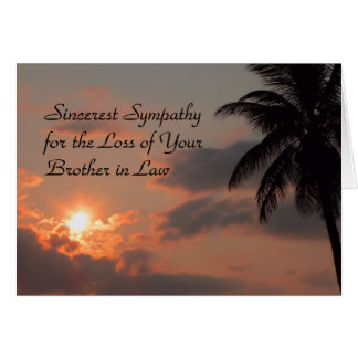 Sympathy Card for Brother in Law Sunset