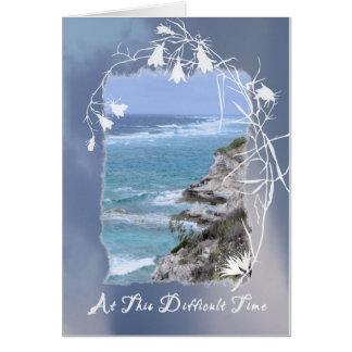 Sympathy Card for Husband, Sea Image