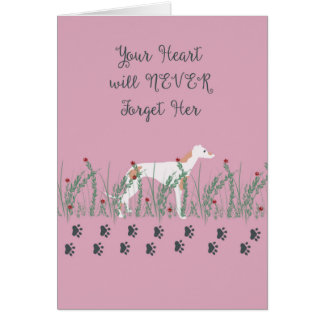 Sympathy Card for Loss of Female Greyhound