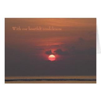 Sympathy Card - Heartfelt condolences