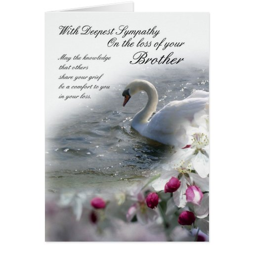 Sympathy Card Loss Of Brother Zazzle