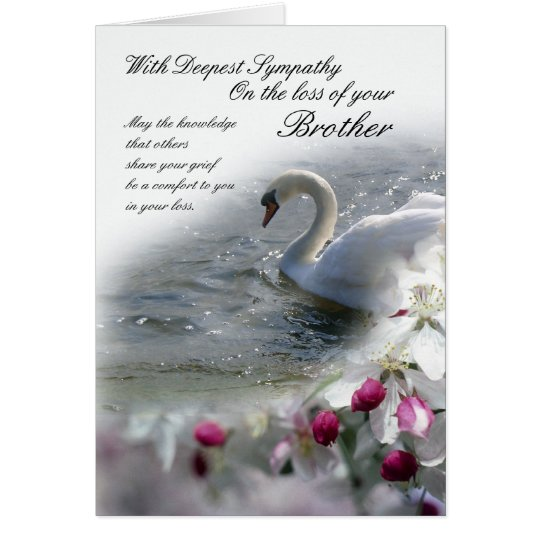 Sympathy card loss of brother zazzle sympathy card loss of brother altavistaventures Images