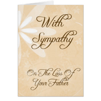 Sympathy Card - Loss of Father