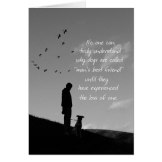Sympathy Card-Loss of Pet Dog Greeting Card