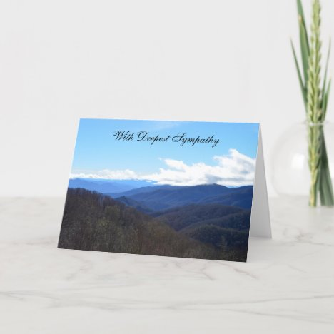 Sympathy Card -- Mountains
