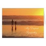 Sympathy card: Ocean beach sunset Greeting Card