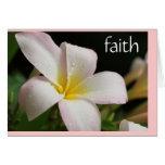 Sympathy Card: Plumeria w Scripture verse on Faith